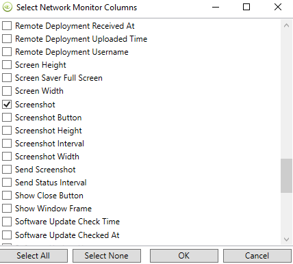 network monitor columns