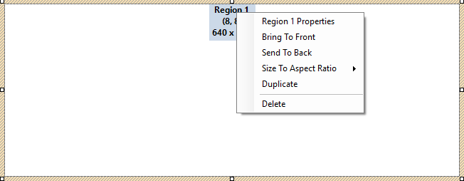 region example and menu