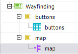 example of template with wayfinding map and live data content types